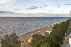 Jurmala coast. Riga bay, Latvia royalty free stock image