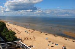 Jurmala con el golfo de Riga es el centro turístico central i Imagen de archivo libre de regalías