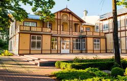 Jurmala house made of wood Stock Photos