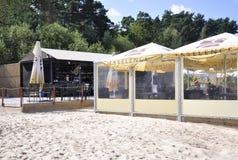 Jurmala, il 23 agosto 2014 - spiaggia del Mar Baltico da Jurmala in Lettonia Fotografie Stock