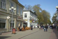 Jurmala in kann Nachmittag lettland Stockbild