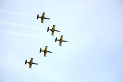 JURMALA, LATVIA - JULY 25: The Latvian aerobatic display team th Stock Image