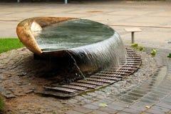 Eye-shaped fountain in Jurmala, Latvia. JURMALA, LATVIA - JULY 11, 2017: Eye-shaped fountain on central Jomas street in Jurmala, a seaside resort town on the Stock Image
