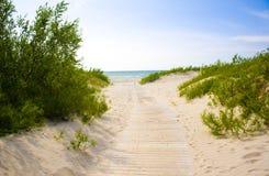 Jurmala (Latvia). A tomada ao mar. Fotografia de Stock
