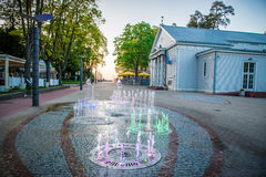 Jurmala miasta fontanna Zdjęcia Stock