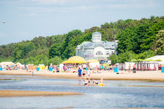 Jurmala plaża Zdjęcia Stock