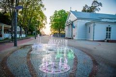 Jurmala stadsspringbrunn Arkivfoton