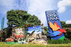 Jurong Bird Park is a popular tourist attraction in Singapore. royalty free stock image