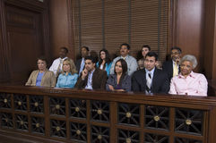 Jury Box In Courtroom Royalty Free Stock Image