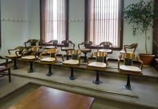 Jury Box. Historic courthouse, Austin, Nevada royalty free stock photo