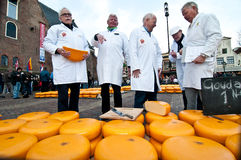The jury at cheese market in Alkmaar. North Holland, Netherlands, 29.03.2013 Royalty Free Stock Images