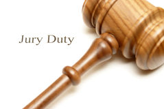 Jury Duty. Someone has been selected for jury duty in the legal system stock photography