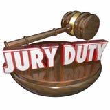 Jury Duty Judge Gavel Court Trial Stock Image