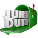 Jury Duty Mailbox Notice Letter Legal Responsibility Stock Photography