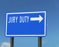 Jury Duty Sign Stock Images
