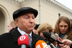 Jury Luzhkov near metro station Park Kultury Royalty Free Stock Photos