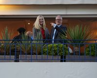 Jury members Elle Fanning, Thierry Fremaux royalty free stock photo