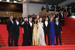 Jury members and Robert De Niro. CANNES, FRANCE - MAY 22: Jury Members attend the 'Les Bien-Aimes' premiere at the Palais des Festivals during the 64th Cannes Royalty Free Stock Photo