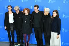 Jury members of the 68th edition of the Berlinale Film Festival stock photos