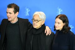 Jury members of the 68th edition of the Berlinale Film Festival 2018 stock photos