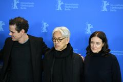 Jury members of the 68th edition of the Berlinale Film Festival 2018. Berlin, Germany - February 15, 2018: Jury members of the 68th edition of the Berlinale Film Royalty Free Stock Photography