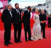Jury principal de concurrence XXXVI de festival de film international de Moscou images stock