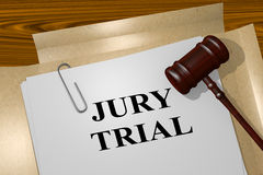 Jury Trial - legal concept Stock Photography