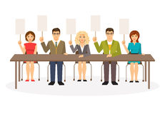 Jury. Vector illustration Royalty Free Stock Image