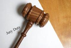 Juryarbetsuppgift royaltyfri bild