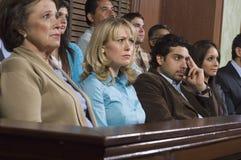 Jurymedlemmar under försök Arkivbild
