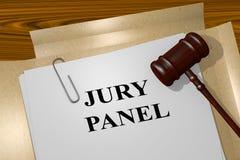 Jurypanel - lagligt begrepp royaltyfri illustrationer
