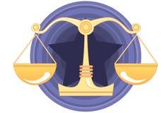 juryrättvisadom Arkivbild