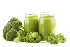 Jus avec le brocoli Photo stock