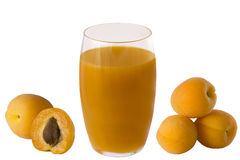 Jus d'abricot Photos stock