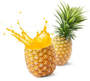 Jus d'ananas Photos stock