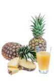 Jus d'ananas frais Photos libres de droits
