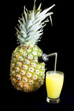 Jus d'ananas frais Photographie stock