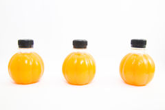 Jus d'orange d'isolat Photographie stock