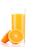 Jus d'orange d'isolement Image stock