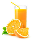 Jus d'orange d'isolement Images stock