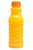Jus d'orange dans une bouteille images stock