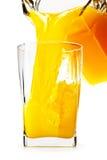 Jus d'orange in de kruik van glasANG royalty-vrije stock afbeelding