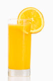 Jus d'orange en verre OD Photo stock