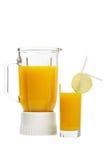 Jus d'orange et mélangeur Images libres de droits