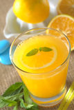 Jus d'orange frais Photographie stock
