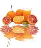 Jus d'orange frais Photo libre de droits