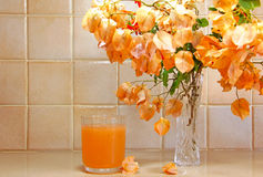 Jus d'orange frais Photos stock