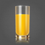 Jus d'orange in glas vectorillustratie royalty-vrije illustratie