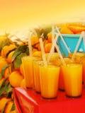 Jus d'orange in glazen Stock Foto's