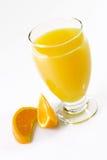 Jus d'orange met Oranje Plakken Stock Foto